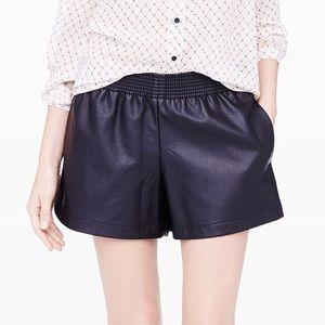NWT Club Monaco Rebekah Faux Leather Shorts